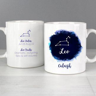Personalised Leo Zodiac Star Sign Mug