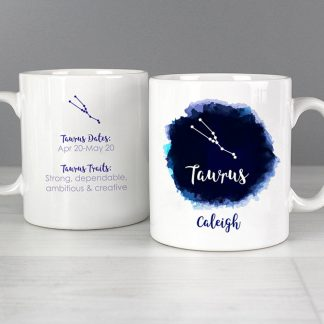 Personalised Taurus Zodiac Star Sign Mug