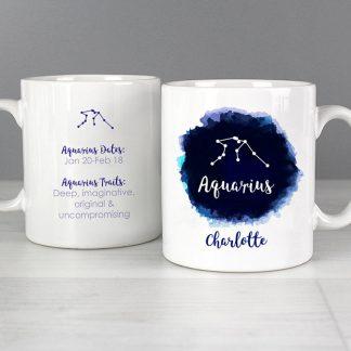 Personalised Aquarius Zodiac Star Sign Mug