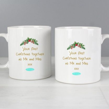 Personalised Me to You Christmas Couple's Mug Set