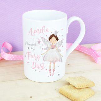 Personalised Fairy Princess Slim Mug