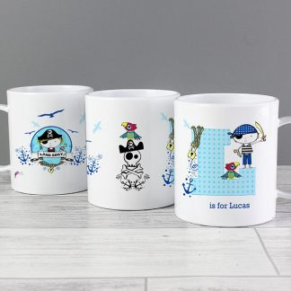 Personalised Pirate Letter Plastic Cup