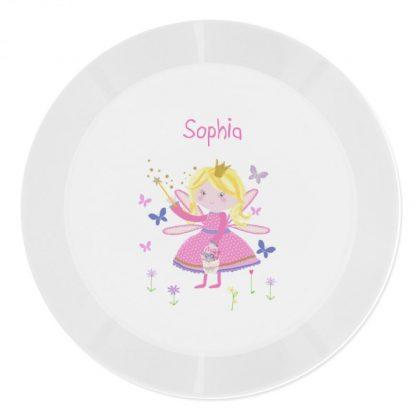 Personalised Garden Fairy Plastic Plate