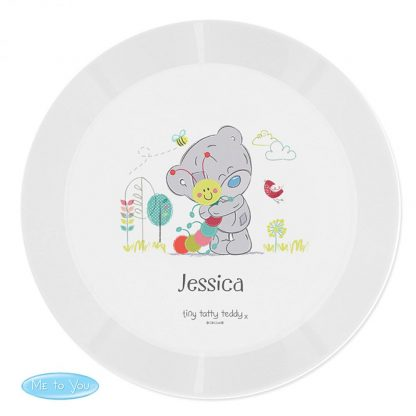 Personalised Tiny Tatty Teddy Cuddle Bug Plastic Plate