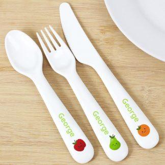 Personalised Healthy Eating Plastic Cutlery