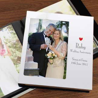 Personalised Decorative Ruby Anniversary Photo Album
