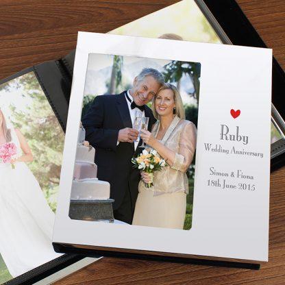 Personalised Decorative Ruby Anniversary Photo Album