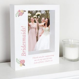 Personalised Floral Bouquet 7x5 Box Photo Frame