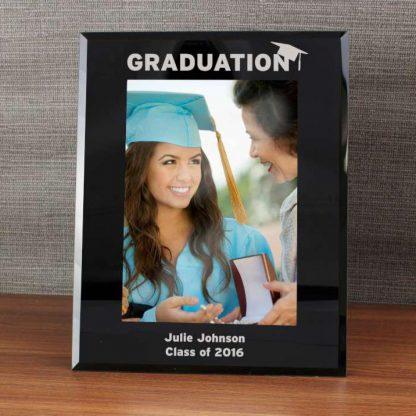 Personalised Black Glass 7x5 Graduation Frame