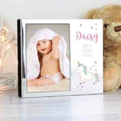 Personalised Baby Unicorn Frame Album