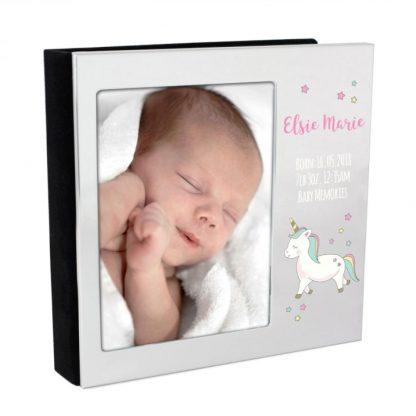 Personalised Baby Unicorn Frame Album 4x6