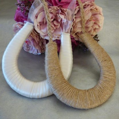 Handmade Ivory Ribbon Wedding Horseshoe