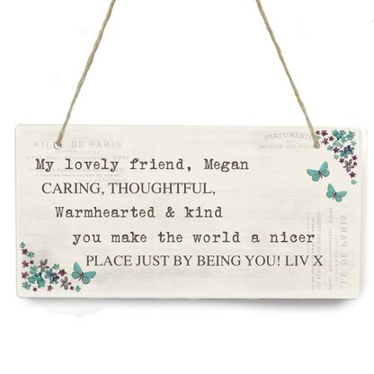 Personalised Forget Me Not Wooden Sign