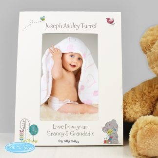 Personalised Tiny Tatty Teddy Cuddle Bug White 6x4 Photo Frame