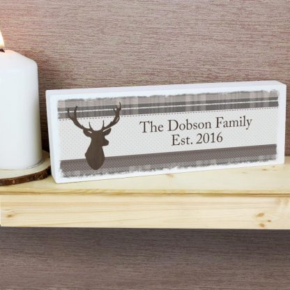 Personalised Highland Stag Mantel Block