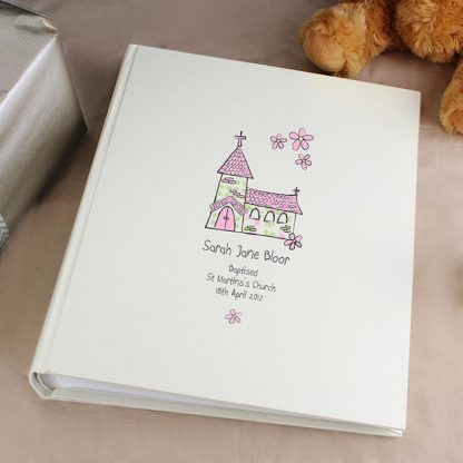 Personalised Whimsical Pink Church Photo Album