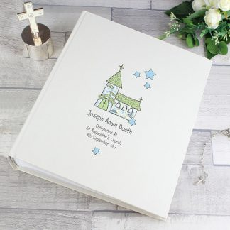 Personalised Whimsical Blue Church Photo Album