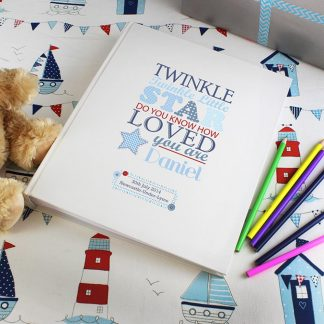 Personalised Blue Twinkle Twinkle Traditional Photo Album