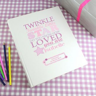 Personalised Twinkle Twinkle Girls Traditional Photo Album