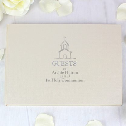 Personalised Church Design Guest Book & Pen