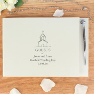 Personalised Church Design Guest Book & Pen