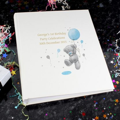 Personalised Me To You Blue Balloon Photo Album