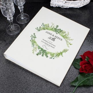 Personalised Fresh Botanical Traditional Photo Album