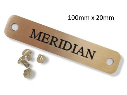 Personalised Brass Horse Headcollar Name Plate (100mm x 20mm)