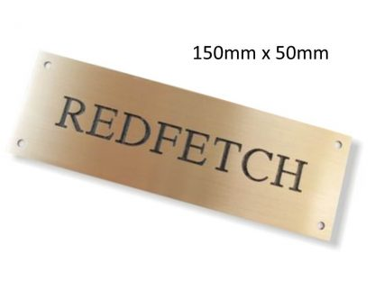Personalised Brass Horse Stable Name Plate (150mm x 50mm)