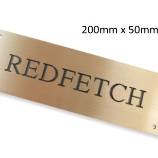 Personalised Brass Horse Stable Name Plate (200mm x 50mm)