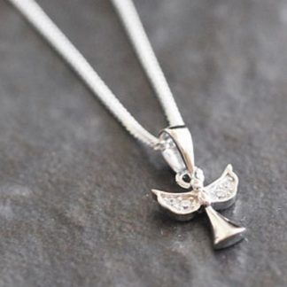 Personalised Angel Necklace Gift Boxed
