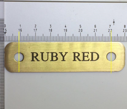 Personalised Brass Horse Head Collar Name Plate (80mm x 20mm)