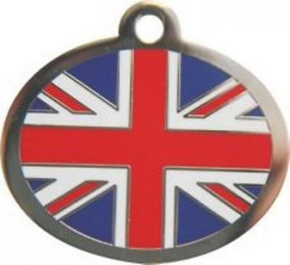 Personalised Union Jack Large Pet ID Tag