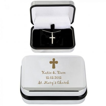 Personalised Cross Necklace & Box