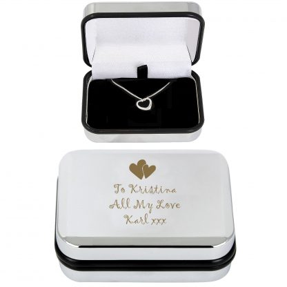 Personalised Heart Necklace & Box