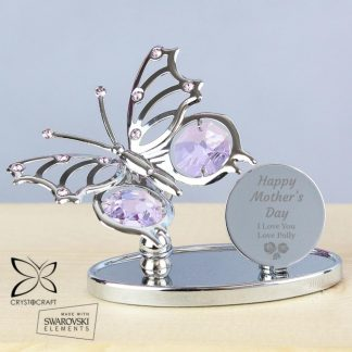 Personalised Happy Mother's Day Crystocraft Butterfly