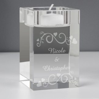 Personalised Ornate Swirl Tealight Holder