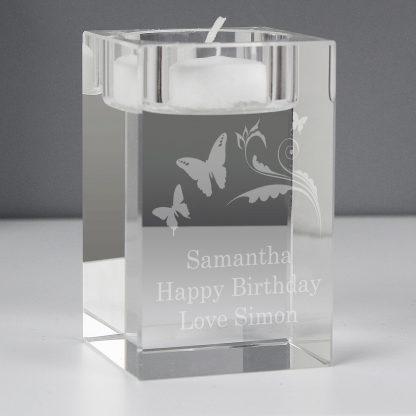 Personalised Butterfly Swirl Tealight Holder