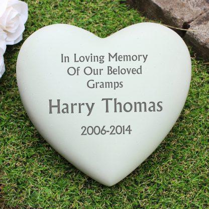 Personalised Heart Memorial Stone