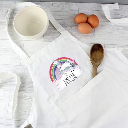 Personalised Unicorn Childrens Apron