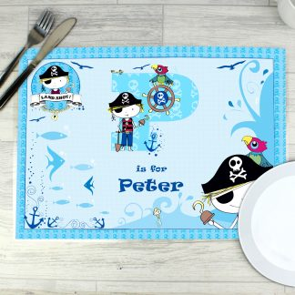 Personalised Pirate Letter Placemat