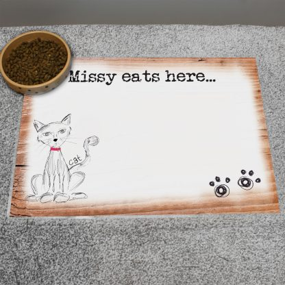 Personalised Scribble Cat Placemat