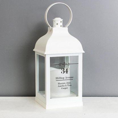 Personalised Elegant Diamond White Lantern