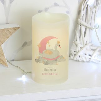 Personalised Swan Lake LED Candle