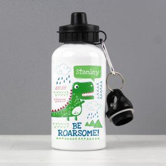 Personalised 'Be Roarsome' Dinosaur Drinks Bottle