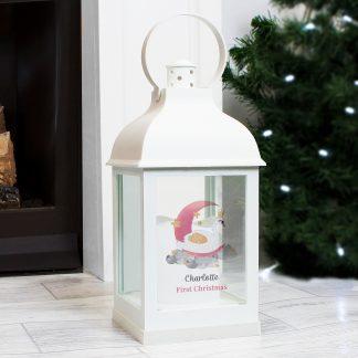 Personalised Swan Lake White Lantern