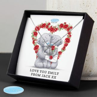 Personalised Me to You Sentiment Heart Necklace and Box