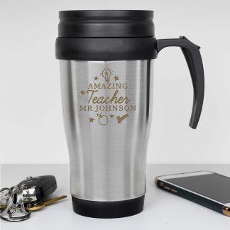 Personalised Amazing Teacher Travel Mug