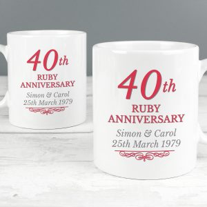 40th Wedding Anniversary - Ruby