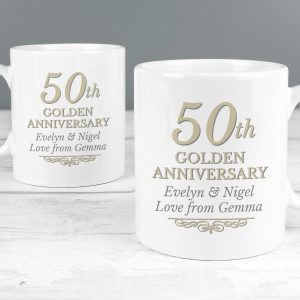 50th Wedding Anniversary - Golden